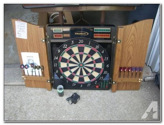 Halex Electronic Dartboard With Cabinet