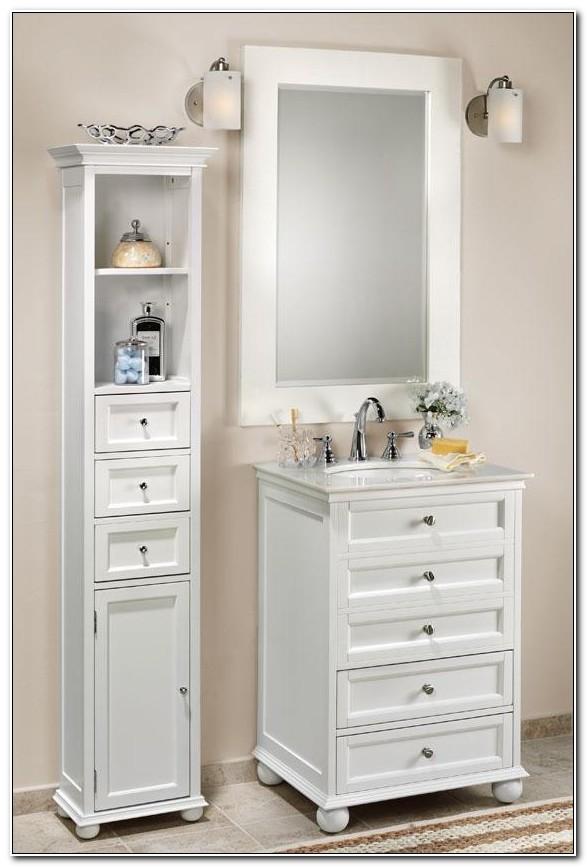 Hampton Bay Standard Linen Cabinet White