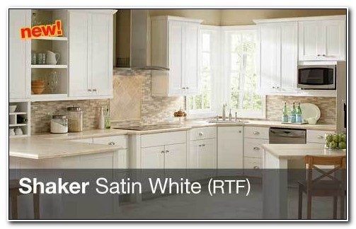 Hampton Bay White Shaker Kitchen Cabinets