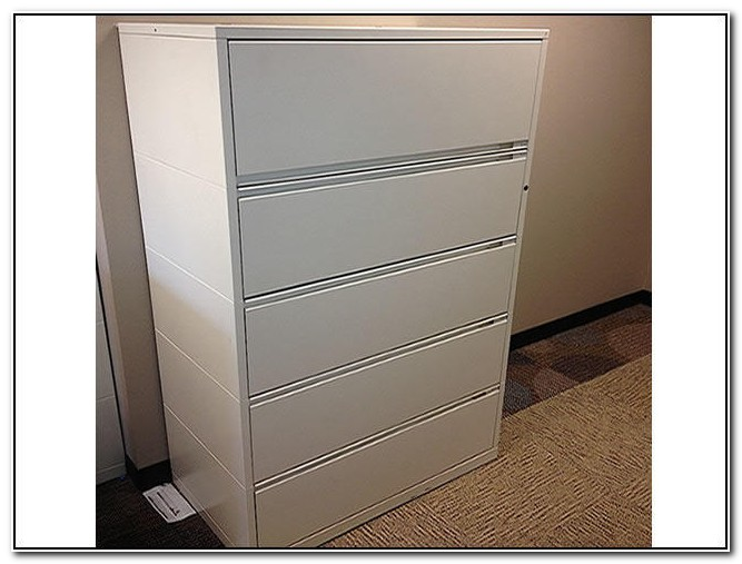 Herman Miller 5 Drawer Lateral File Cabinet