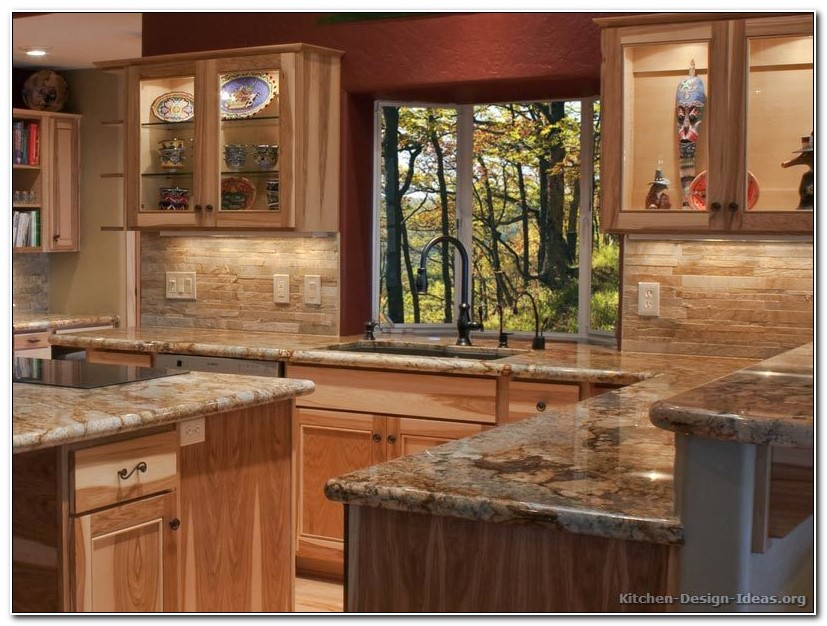 Hickory Kitchen Cabinets With Granite Countertops