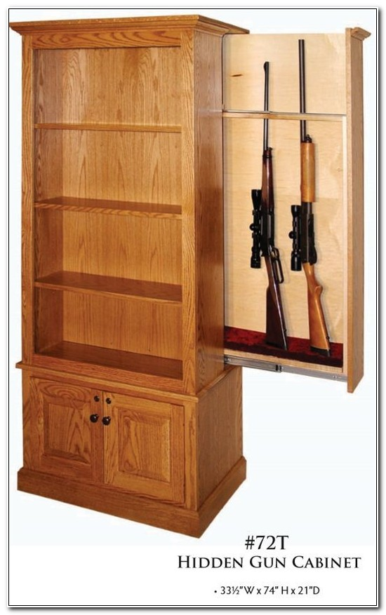 Hidden Gun Cabinet Furniture Plans