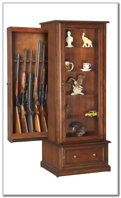 Hidden Wood Gun Cabinet Plans