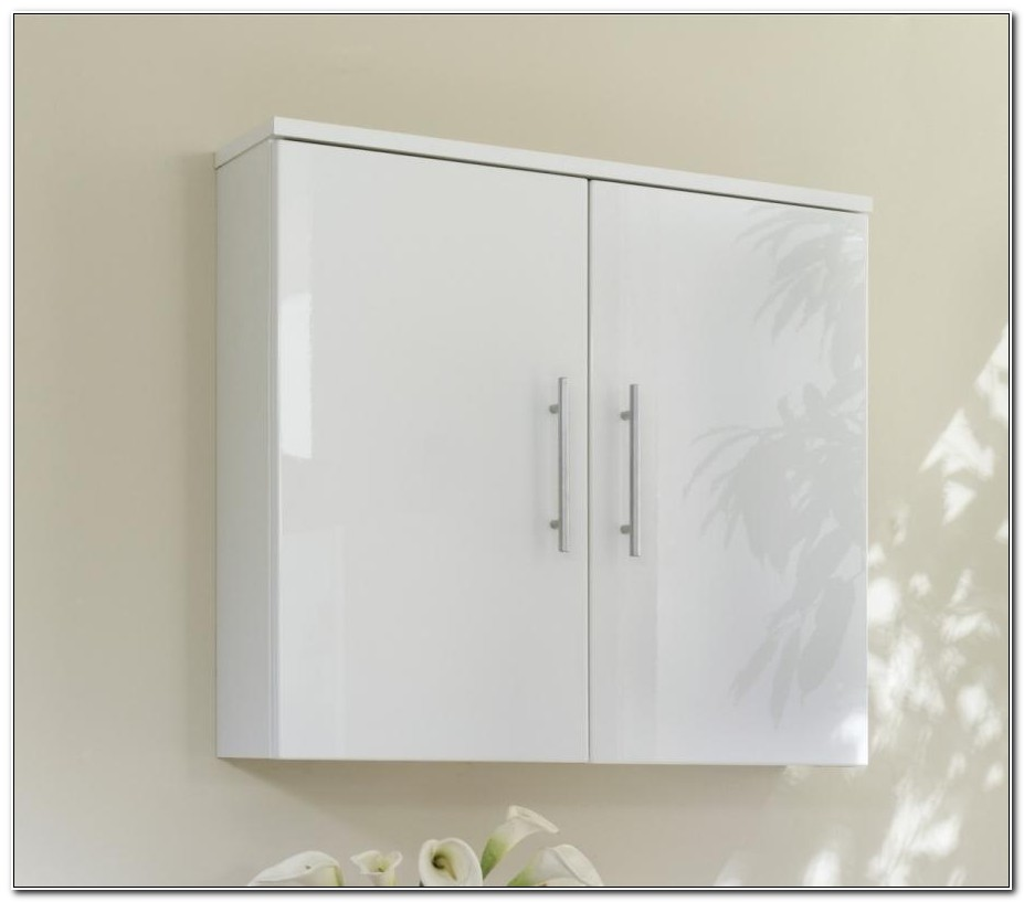 High Gloss Bathroom Wall Cabinets White