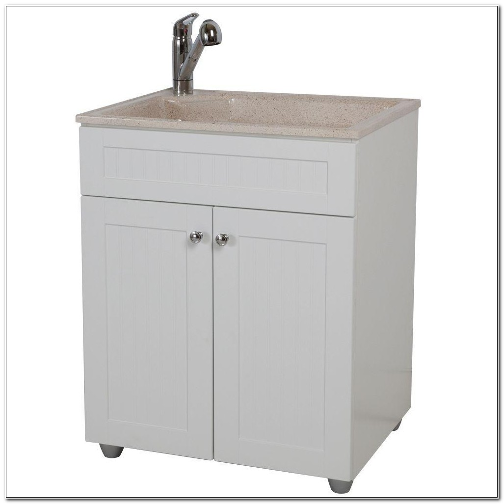 Home Depot Laundry Sink Cabinet Combo