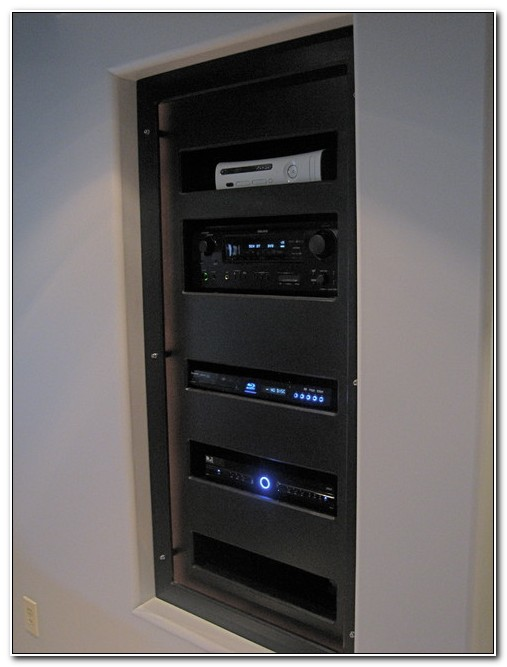 Home Theater Component Cabinet In Wall