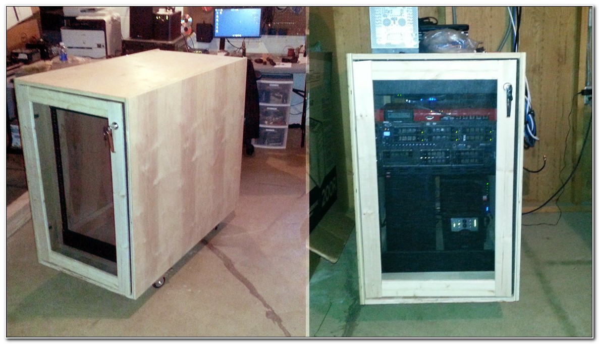 Homemade Server Rack Cabinet