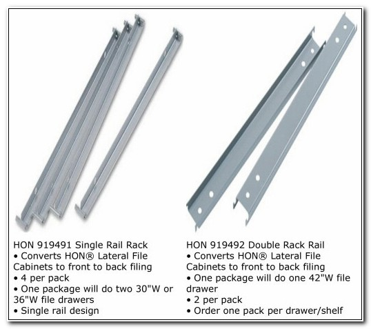 Hon Lateral File Cabinet Hang Rails