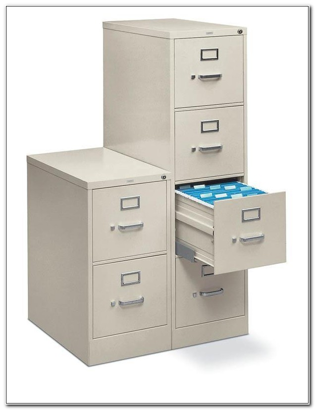 Hon Two Drawer Vertical File Cabinet