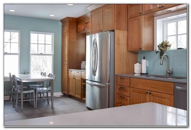 Honey Oak Kitchen Cabinets Wall Color