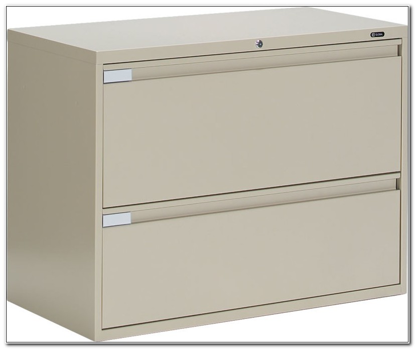 Horizontal 2 Drawer File Cabinet