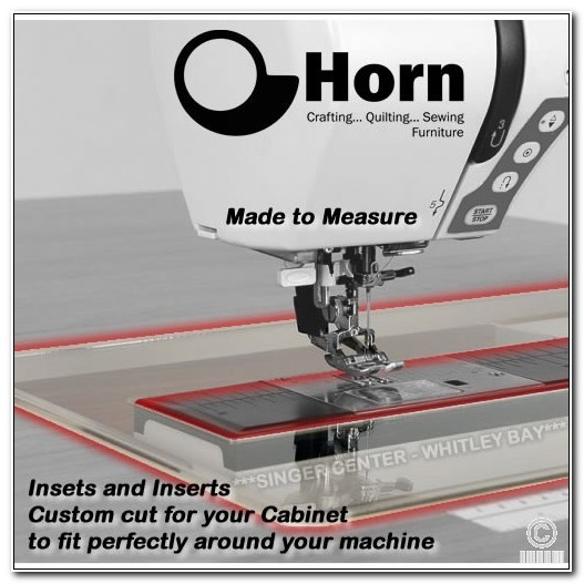 Horn Sewing Machine Cabinet Inserts