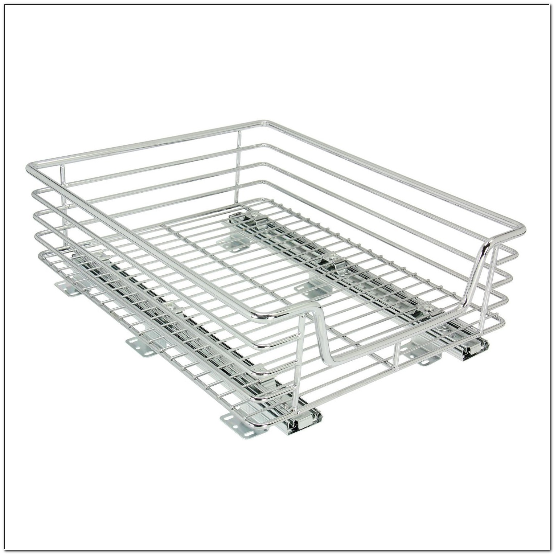 Household Essentials Sliding Chrome Cabinet Organizer