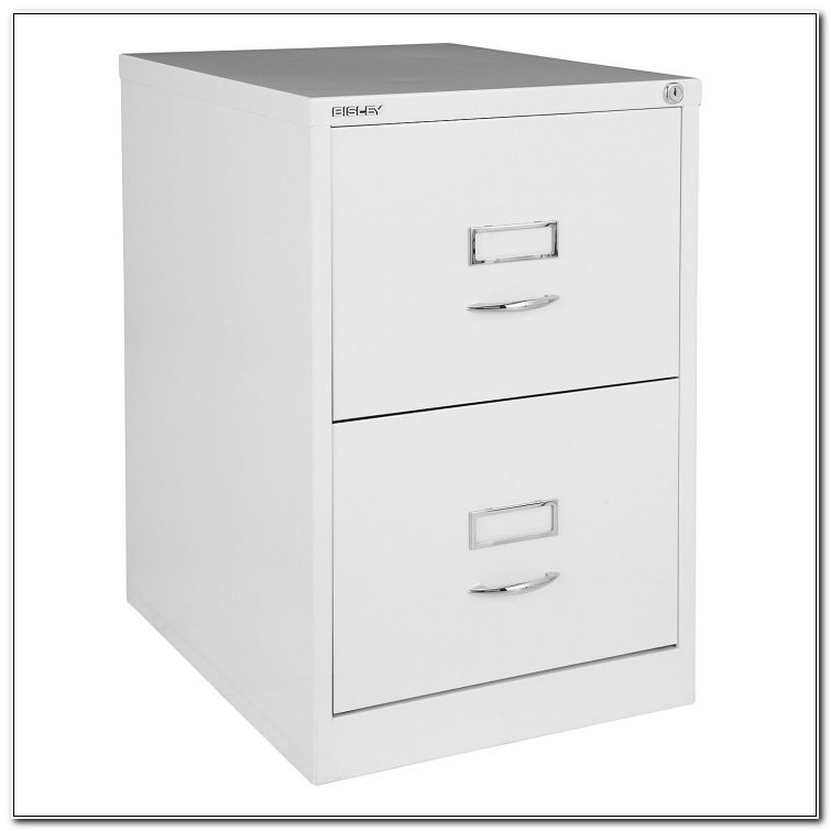 Houston White Two Drawer File Cabinet