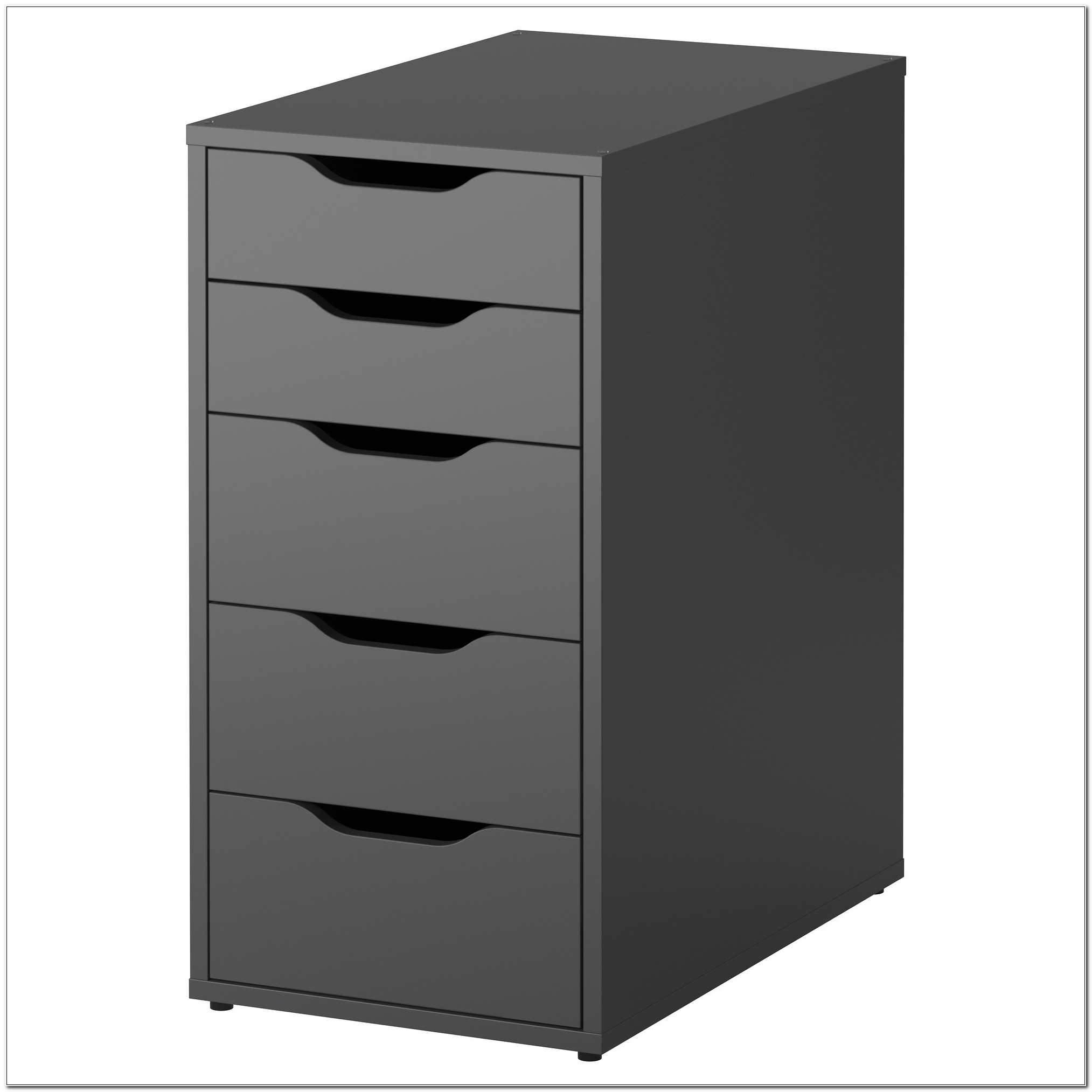Ikea Black Wood Filing Cabinet