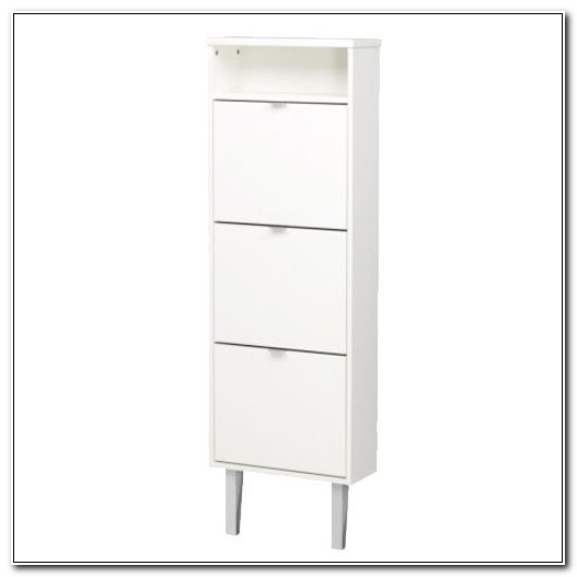 Ikea Skar White Shoe Cabinet Rack