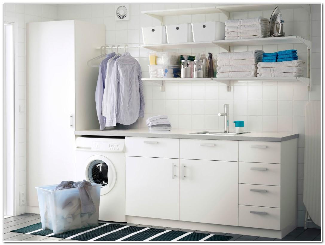 Ikea White Laundry Room Cabinets