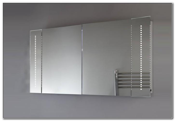 Illuminated Bathroom Mirror Cabinet With Sensor