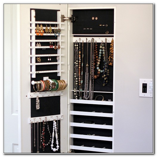 In Wall Jewelry Cabinet Recessed
