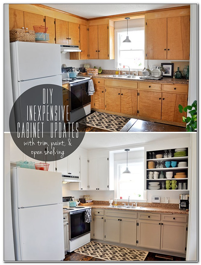 Inexpensive Updates For Kitchen Cabinets