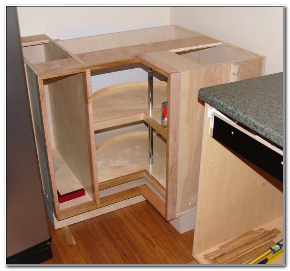 Install Lazy Susan Corner Kitchen Cabinet