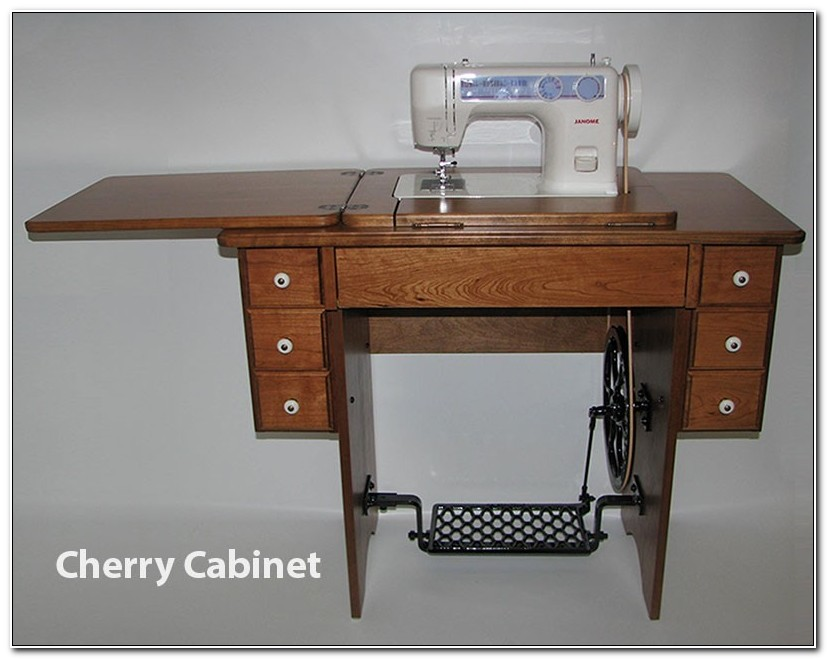 Janome Treadle Sewing Machine Cabinet