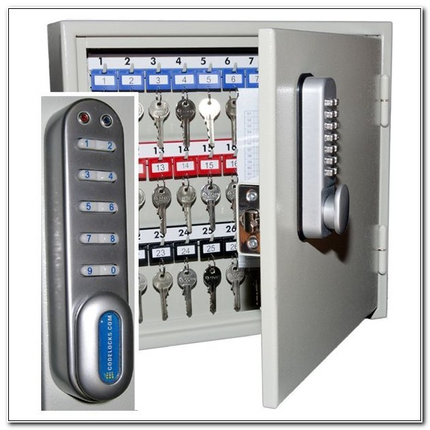 Key Storage Cabinet With Combination Lock