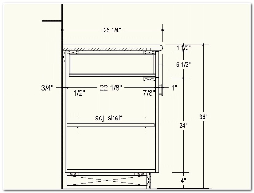 Kitchen Cabinet Drawer Dimensions 3 Drawer Kitchen Base CabiDimensions   Cabi: Home Design