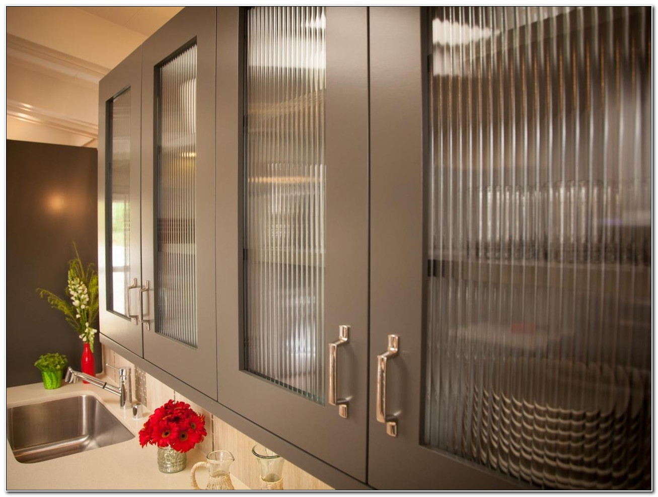 Kitchen Cabinet Frosted Glass Inserts