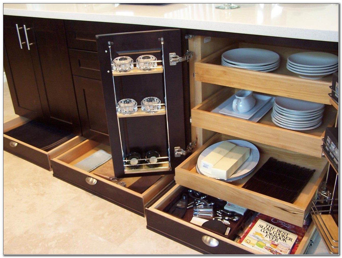 Kitchen Cabinet Pull Out Organizers