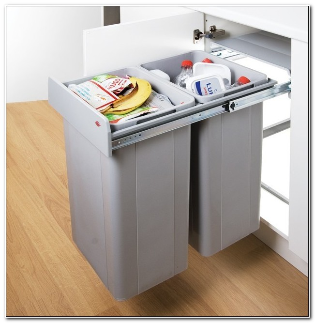 Kitchen Cabinet Recycle Bins