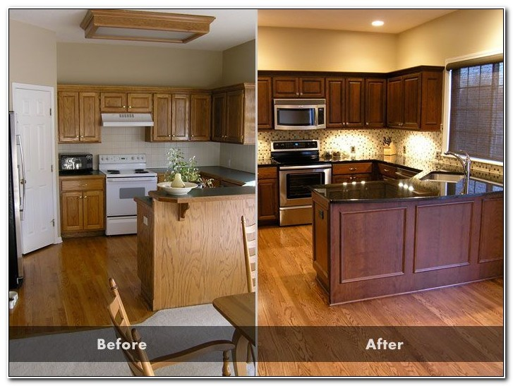 Kitchen Cabinet Refinishing Before And After Pictures