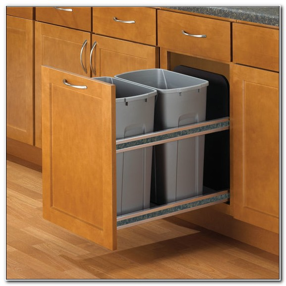 Kitchen Cabinet Trash Drawer