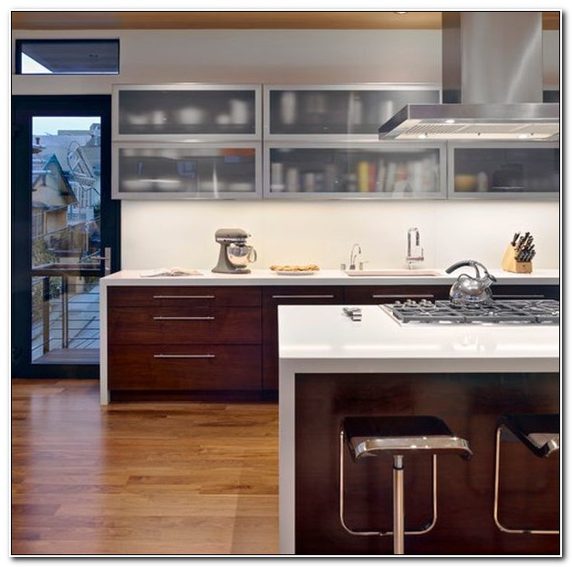 Kitchen Cabinets With Frosted Glass