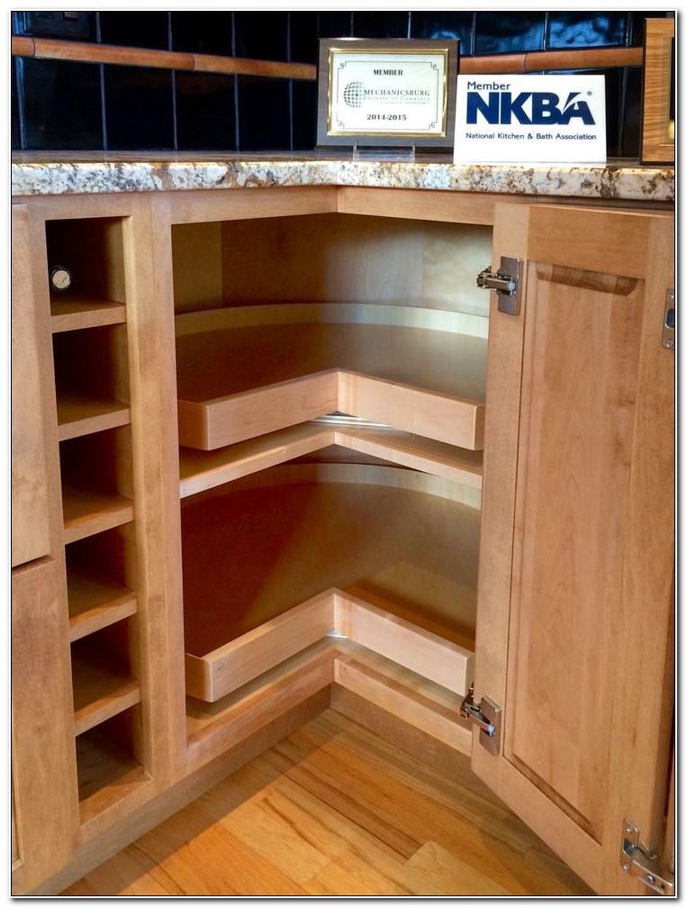 Kitchen Corner Cabinet Organization Ideas