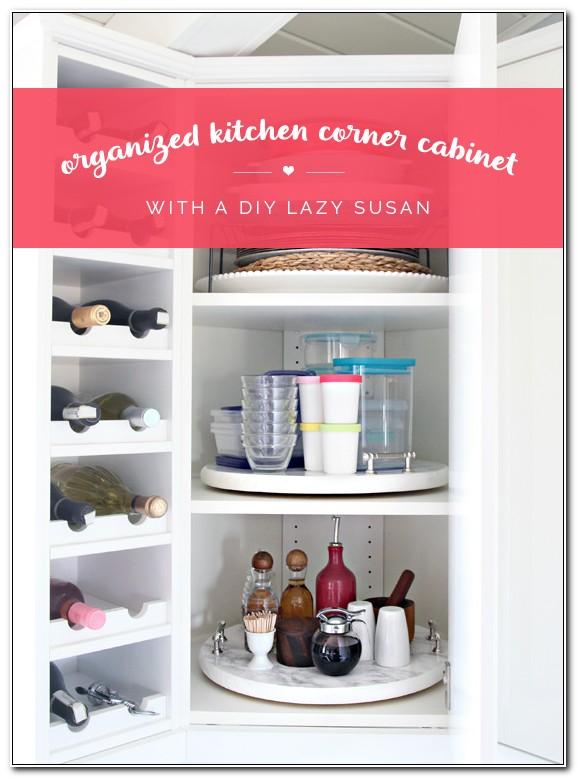 Kitchen Lazy Susan Corner Cabinet Organization