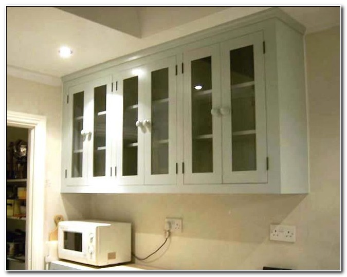 Kitchen Wall Cabinets With Glass Inserts