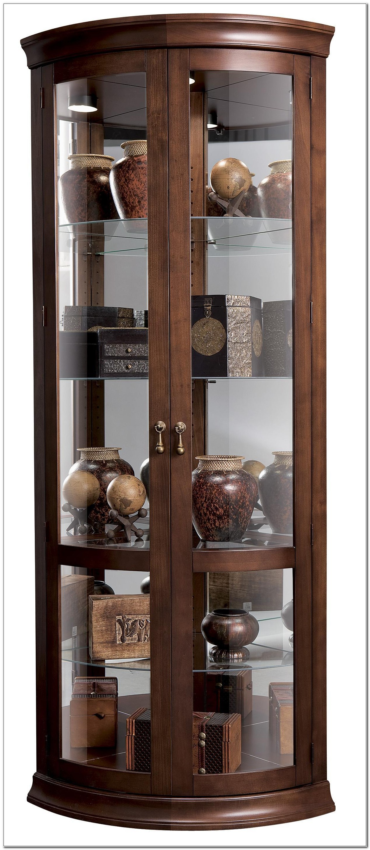 Klingsbo Light Corner Glass Curio Display Cabinet