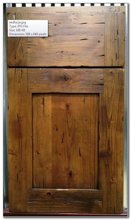 Knotty Alder Shaker Cabinet Doors