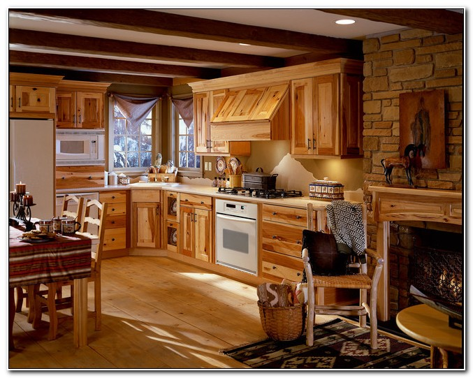 Kraftmaid Natural Hickory Kitchen Cabinets