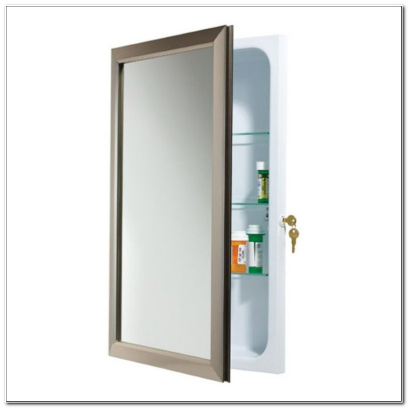 Large Medicine Cabinet With Lock