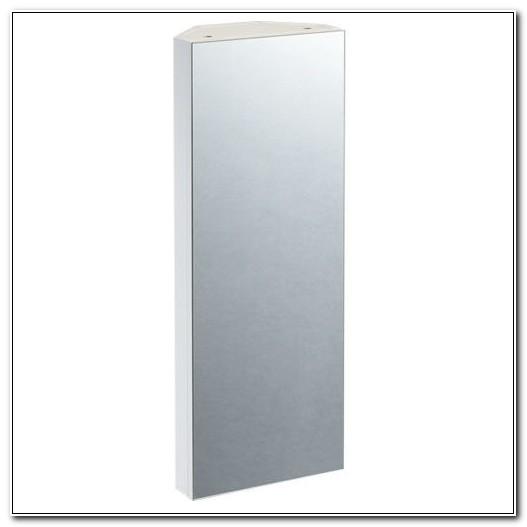 Large Mirrored Corner Bathroom Cabinets