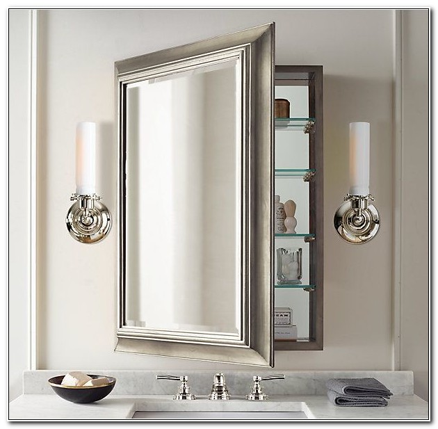 Large Mirrored Medicine Cabinet Recessed