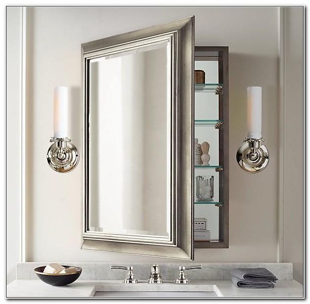 Large Recessed Mirrored Medicine Cabinet