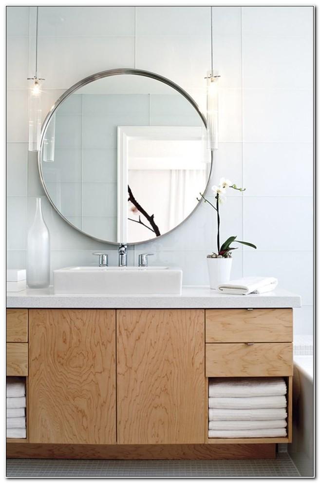 Large Round Mirror Medicine Cabinet