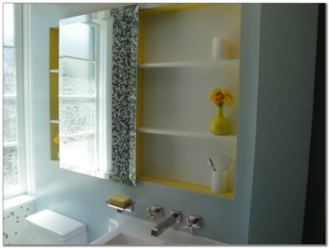 Large Sliding Mirror Medicine Cabinet