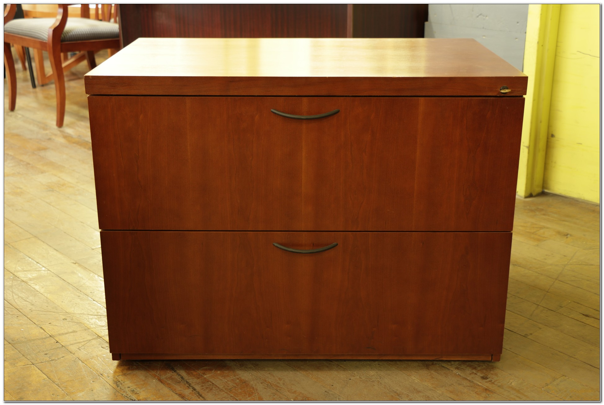 Lateral 2 Drawer File Cabinet Wood