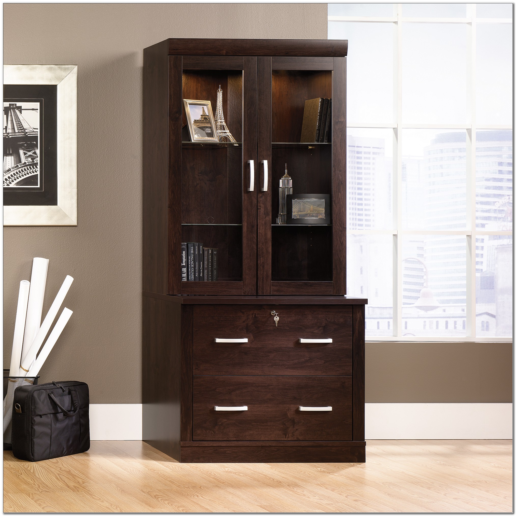 Lateral File Cabinet With Hutch