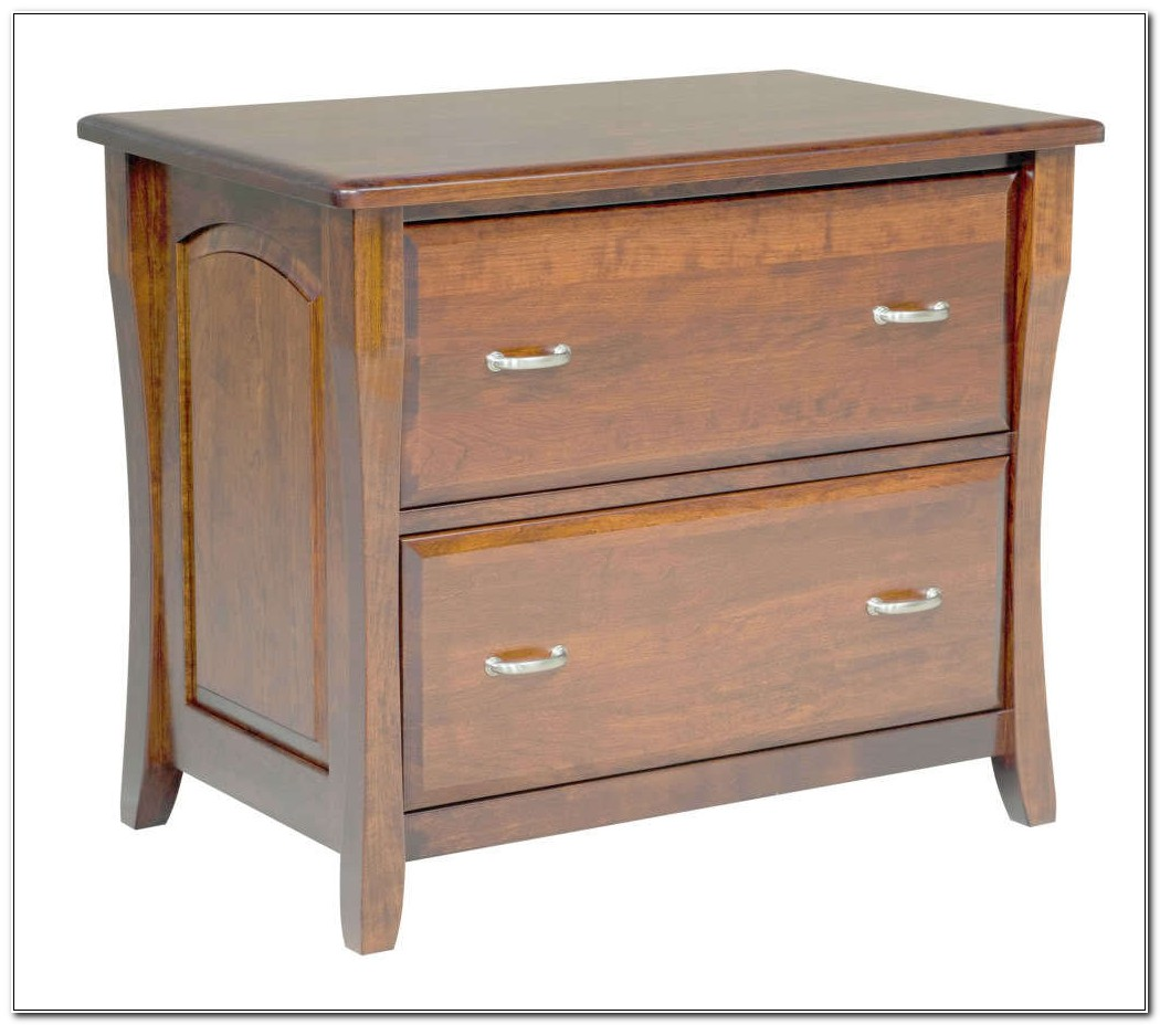 Lateral File Cabinet Wood 2 Drawers