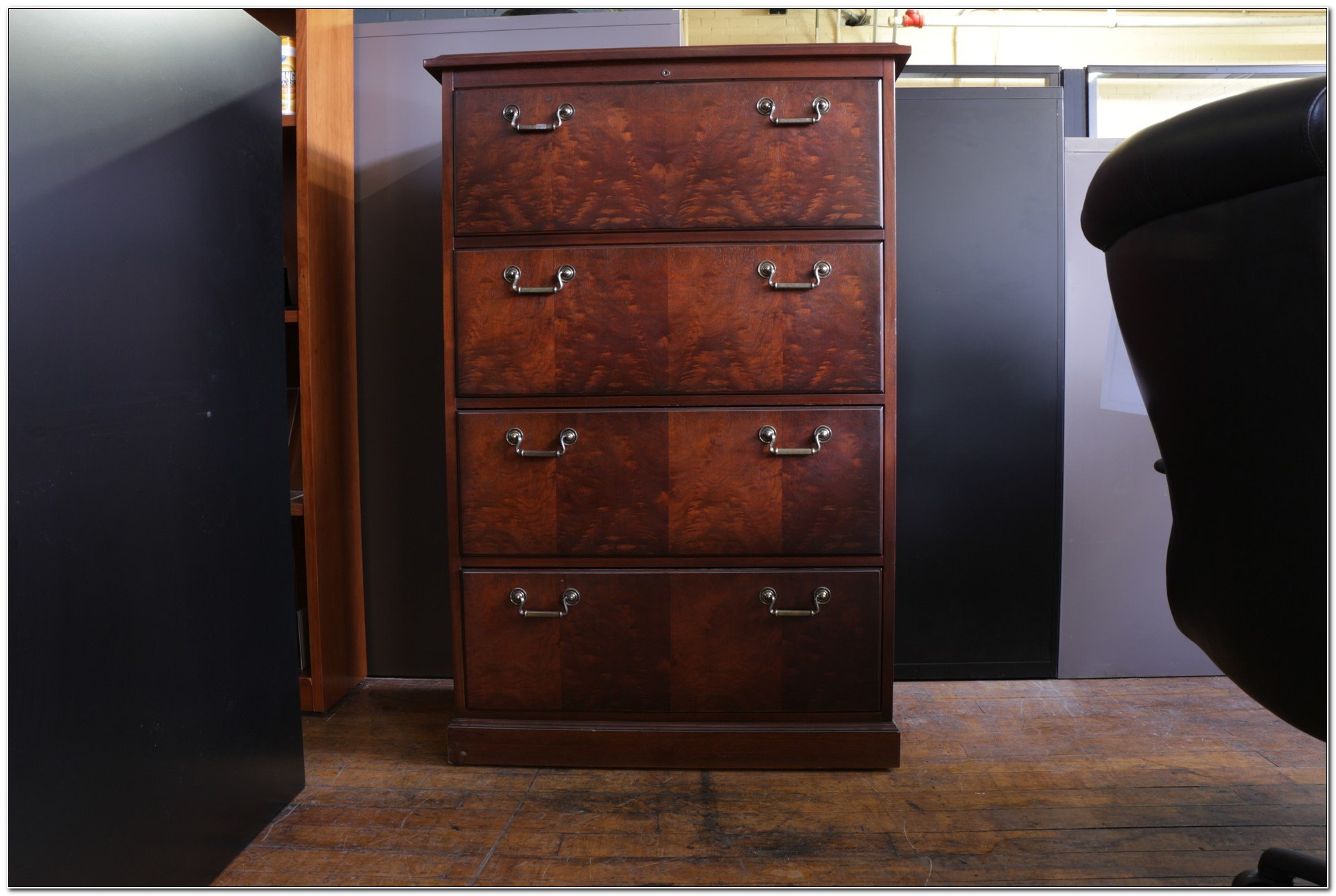 Lateral File Cabinet Wood 4 Drawer